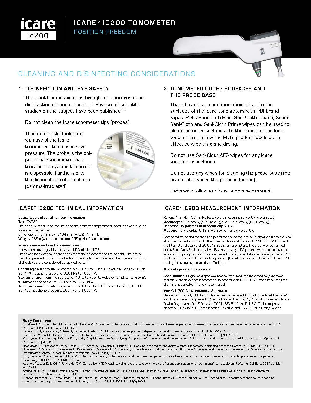 Icare_ic200_ProductSheet_9_8_19 2_Page_1